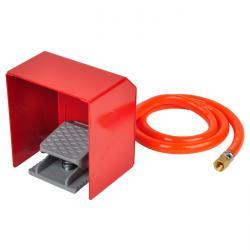Ventil - fußbetätigt - für Strahlkabinen - pneumatische Version - mit Schutzabdeckung