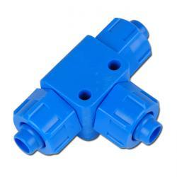 CK-Schnellverschraubung - T - Kunststoff - Schlauch-Ø bis 11,6x9 mm