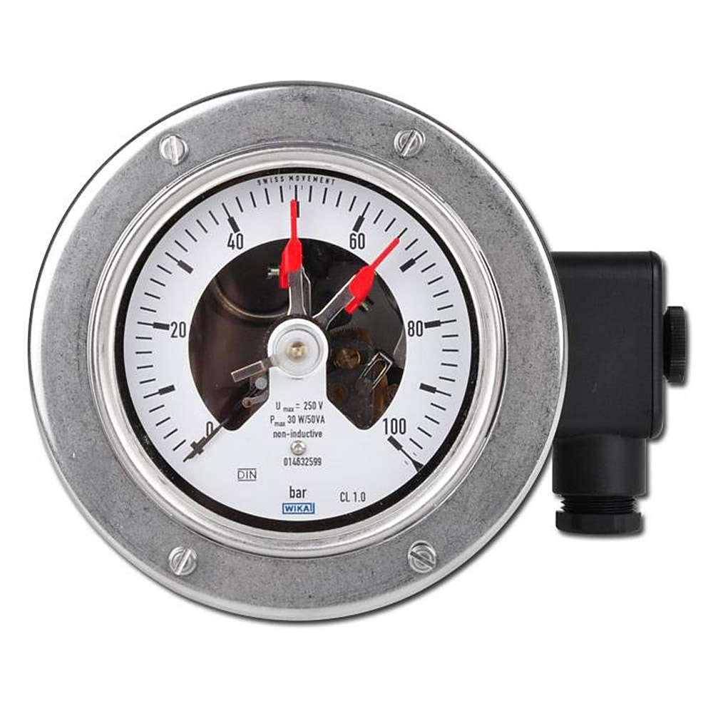 La pressione di contatto - di - 1 bar a 600 bar - Ø 100 / Ø 160 mm - acciaio inox / ottone - orizzontale