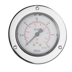 "Manomètre horizontal - classe 0,5 - de 1 à 400 bar - Ø 50-63 mm - G 1/4"""
