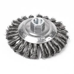"Falring Cup Brushes - Threaded - Knotted Steel Wire - M14x2 ""PFERD"""