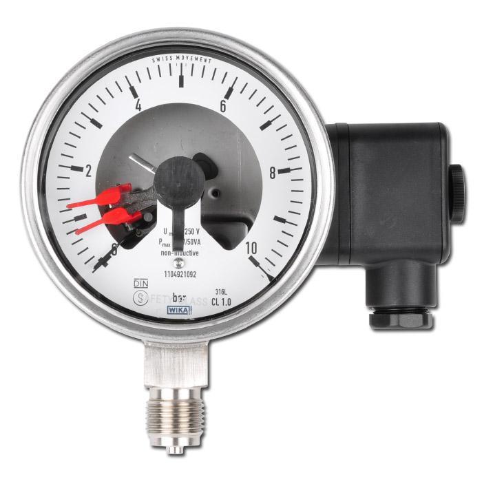 La pressione di contatto - Ø 100 mm - acciaio inox - Classe 1.0 - Standing