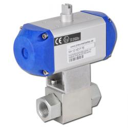 High Pressure Ball Valve With Pneumatic Drive Max. PN 500