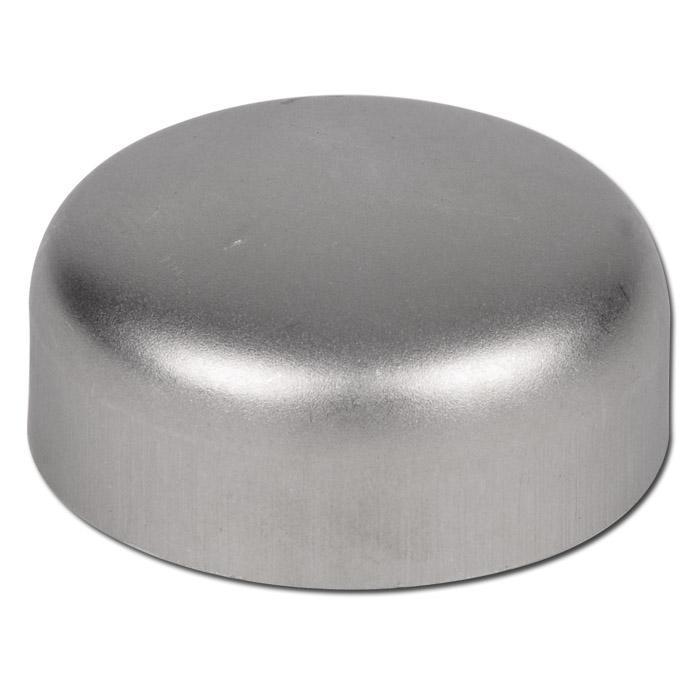 Rohrkappe - Edelstahl 1.4541/1.4571 - Durchmesser 21,3 bis 406 mm - Wandstärke 2 ode 3 mm -  ähnlich DIN 28011