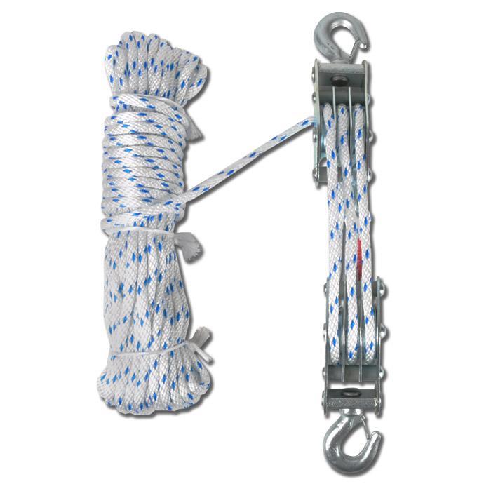 """Seil - Flaschenzug """"PLANETA BFZ"""" - Arbeitslänge bis zu 5,7 m - Zugkraft bis 0,5t"""