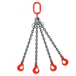 Restposten - Anschlagketten - 1- 4strängig - Nutzlänge 1m - Traglast max. 26 t - gemäß DIN EN 818-4, GK 8