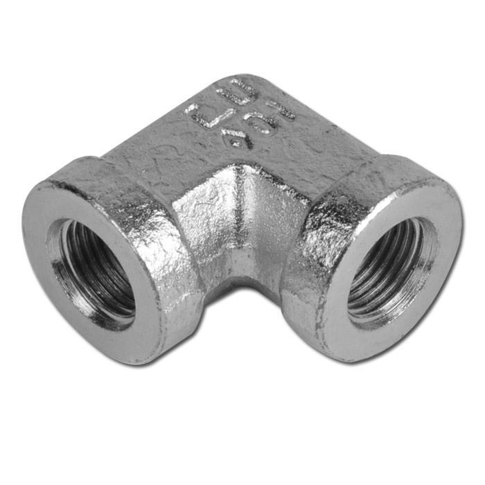 """Winkelverschraub. 90º - Stahl - IG/IG(zylind.) - 1/8"""" bis 2"""" - PN bis 350 - verz"""