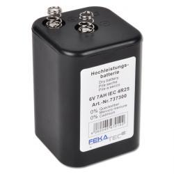 Batteri - högpresterande - för bygglampor - 6V 7Ah