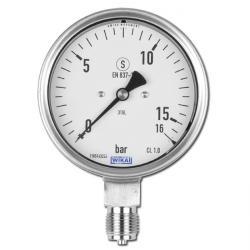 Manometer - Klasse 1,0 - Ø 100 mm - stehend - von -1 bar bis 600 bar - Abgang unten