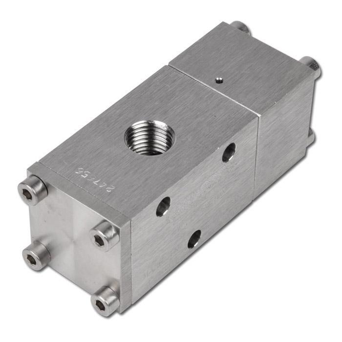 3/2-vägs Pneumatisk ventil  - Rostfritt stål - -0,95 till 12 bar