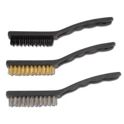 "Brush set - 3 pieces - length 225 mm - made of brass, nylon, steel ""BGS"""