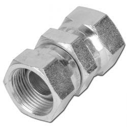 """Muff - förzinkat stål - 2 x invändig gänga - 1/8"""" till 2"""" - rak"""