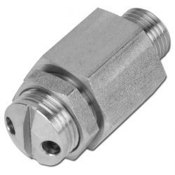 MINI-Sicherheitsventil - VA - 0,5-60 bar - frei abblasend - einstellbar - nicht