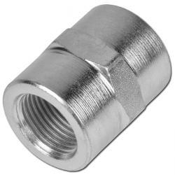 """Muff - förzinkat stål - 2 x invändig gänga - 1/8"""" till 1 1/2""""- PN 350"""
