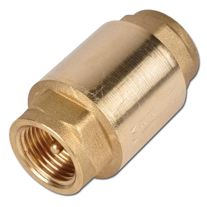 Backventil för vakuum – mässing – till PN 25