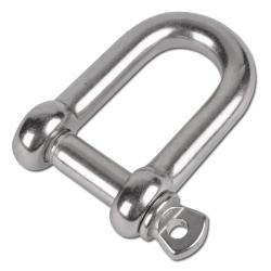 Stainless steel shackles - for chains and wire ropes - straight form - stainless steel