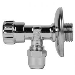 Angle Valve - choke and check valve - version connector 1/2''