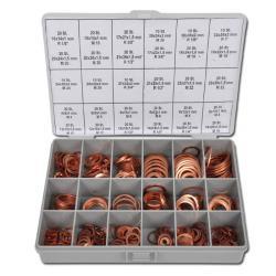 Dichtringssortiment - aus Kupfer - DIN 7603 - Massivdichtungen