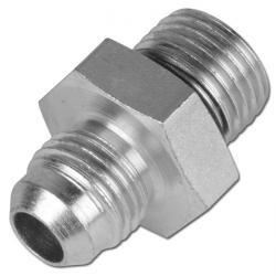 Double Nipple With Metric/JIC-Thread - Galvanized Steel