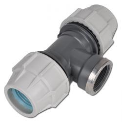 T-stycke PE för PEX-rör - 90° - invändig gänga - PN 10