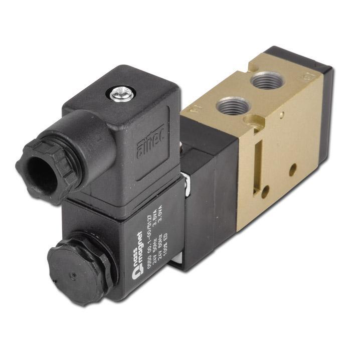 """Magnetventil - 5/2-vägs tryckluft - byggserie SF3000 - G 1/8"""""""