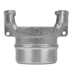 Guillemin-coupling with outer thread and locking - aluminium