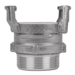 Guillemin-coupling with inner thread and locking - aluminium