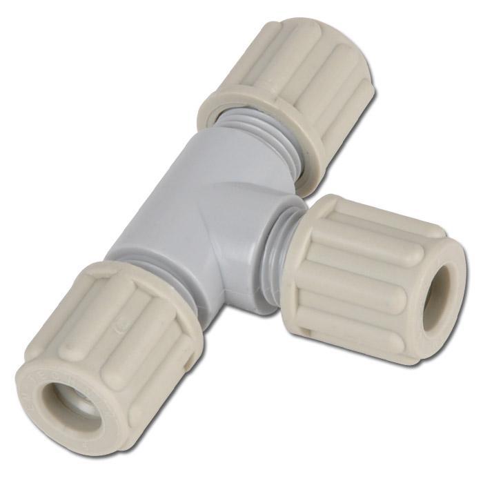 Schlauchverschraub. - PA - T - Schlauch-Ø 6 bis 14mm - bis 10 bar