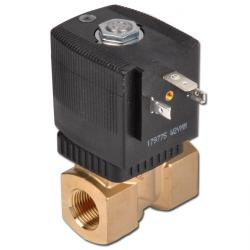 2/2-way solenoid valve - liquids drink water - closed when currentless - 0 to 10 bar