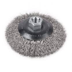 """Kegelbürste - mit Gewinde - ungezopft INOX-Draht - M14x2 """"PFERD"""""""