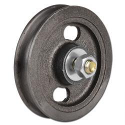 Seilrolle - Grauguss - halbrunde Nut - Rollenlager - Rad-Ø 75 bis 200 mm - Tragkraft 35 bis 250 kg