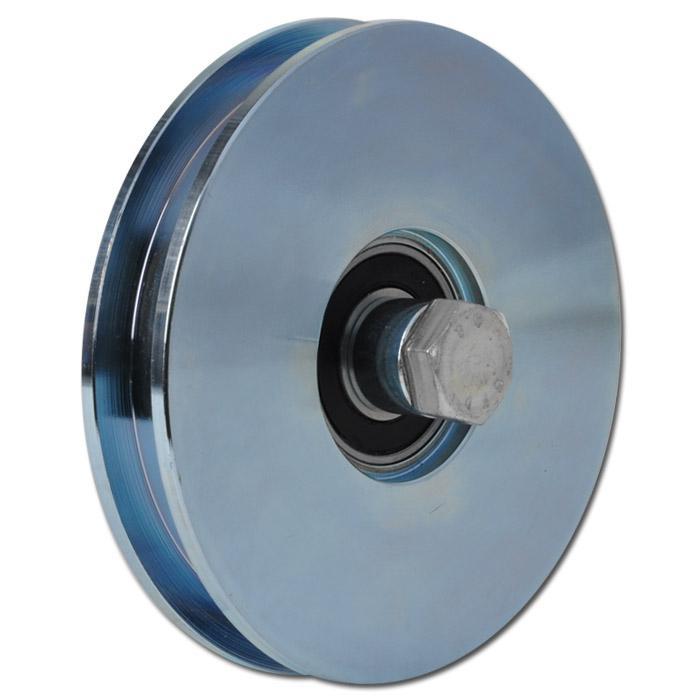 Laufrolle - Stahl verzinkt - kantige Nut - Kugellager - Rad-Ø 50 bis 197 mm - Tragkraft 70 bis 330 kg