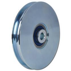 Seilrolle - Stahl - halbrunde Nut - Kugellager - Rad-Ø 30 bis 117 mm - Tragkraft 65 bis 240 kg
