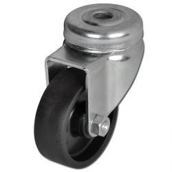 Apparate-Lenkrolle - 4 Stück - Rad-Ø 50 bis 100 mm - Bauhöhe 71 bis 122 mm - Tragkraft 40 bis 60 kg