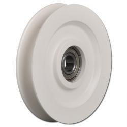 Seilrolle - Polyamid - halbrunde Nut - Kugellager - Rad-Ø 40 bis 98 mm - Tragkraft 50 bis 245 kg