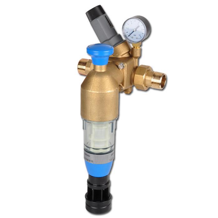 Återspolningsfilter med tryckregulator för bruk- & dricksvatten - PN 16