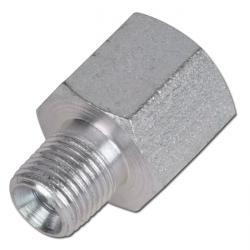 """Förlängningsmuff - stål - 1/8"""" till 1/2"""" - utvändig/invändig gänga (NTP)"""