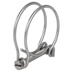 Opaska zaciskowa z podwójnym drutem - do węży spiralnych - stal nierdzewna 1.4301 - zakres mocowania od Ø 13 do 500 mm - cena za sztukę