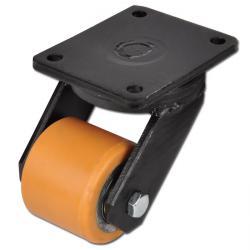 Schwerlastrolle - lenkbar - mit Platte - Polyurethan-Rolle