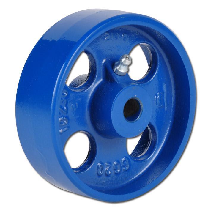 Grauguss-Rad - lackiert - mit Gleitlager - Rad-Ø 65 bis 250 mm - Tragkraft 150 bis 1250 kg