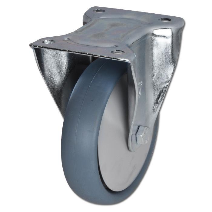 Apparate-Bockrolle - Thermoplastrad - Rad-Ø 80 bis 200 mm - Bauhöhe 100 bis 235 mm - Tragkraft 80 bis 220 kg
