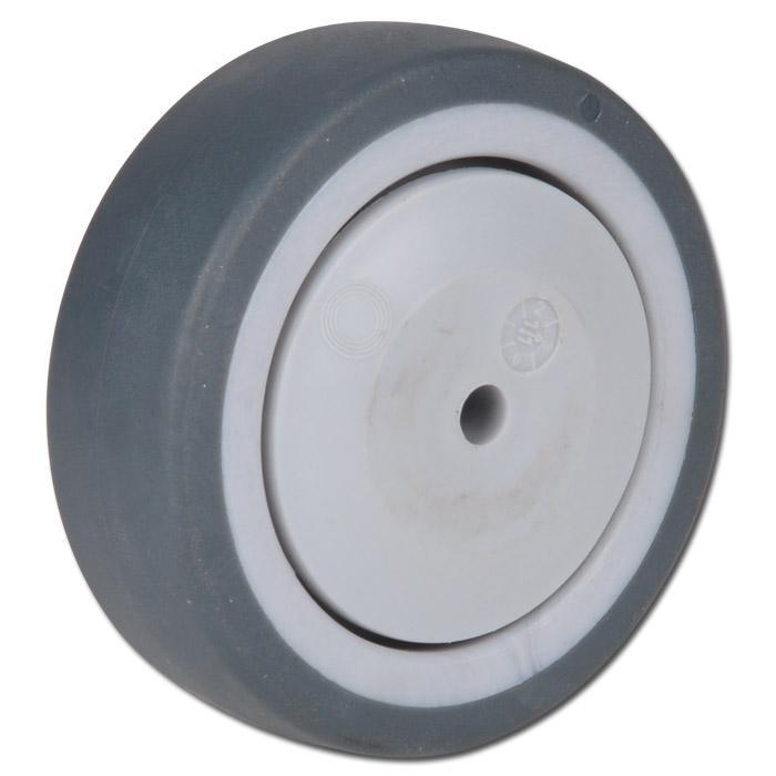 Thermoplastrad für Apparaterollen - mit Kugellager - Rad-Ø 50 bis 125 mm - Tragkraft 40 bis 100 kg