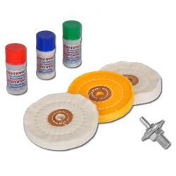 Polier-Sortiment - 7-tlg. für weiches Metall