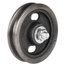 Laufrolle - Grauguss roh - kantige Nut - Walzenlager - Bolzen und 2 Muttern - Rad-Ø 60 bis 120 mm