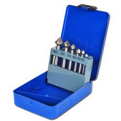 Försänkarsats - 6 delar - snabbstål - DIN 335 form C - 6,3 mm-20,5 mm
