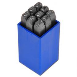 Schlagzahlensatz - Schrifthöhe 2-10mm - 9-teilig