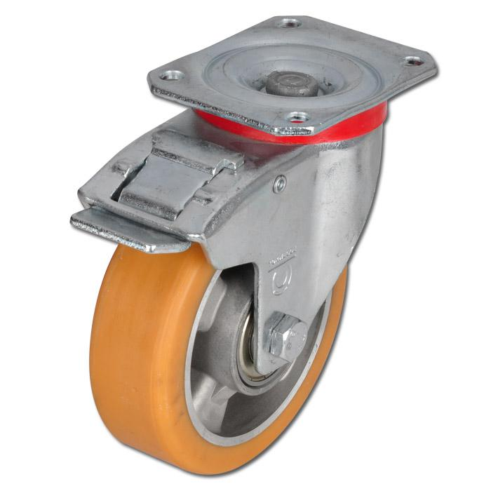 Lenkrolle - Aluminium-Druckguss - Rad-Ø 80 bis 250 mm - Bauhöhe 108 bis 297 mm - Tragkraft 180 bis 800 kg