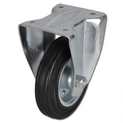 Fixed Castor - Plate Fitting - Full Rubber Castor