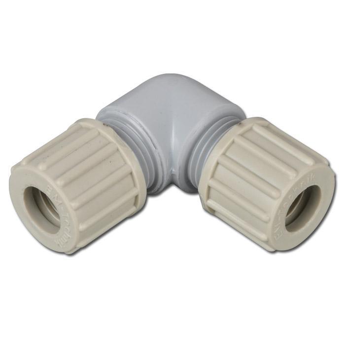 Schlauchverbindung - PA - Winkel - Schlauch-Ø 6 bis 14mm