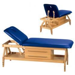 Massagebänk - C 800 - 2-delad dyna - justerbar huvuddel